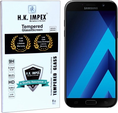 H.K.Impex Tempered Glass Guard for Samsung Galaxy A7 2017(5.7),samsung galaxy a7 2017 tempered glass in mobile screen guard (full display cover).