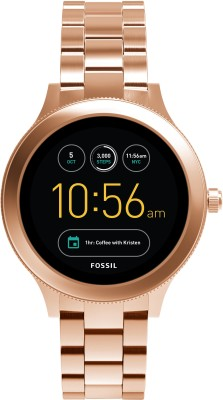 Fossil Q Venture Rose Gold Smartwatch(Gold Strap Regular)