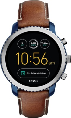 Fossil Gen 3 Q Explorist Silver Smartwatch(Brown Strap Regular)