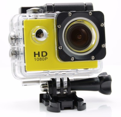 View IZED HERO 1080P Waterproof Digital with led screen(WITHOUT memory card ) Sports and Action Camera(Yellow 10.4 MP) Price Online(IZED)
