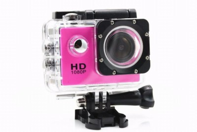 View IZED HERO 1080P Waterproof Digital with led screen(WITHOUT memory card ) Sports and Action Camera(Pink 10.4 MP) Price Online(IZED)