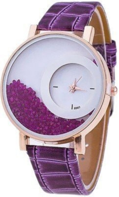 KNACK N01K027 purple movable diamond beads in dial women Analog Watch   For Girls KNACK Wrist Watches