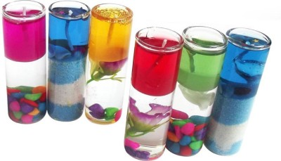 Eoan Pencil Jelly Candles (Multicolor, Pack of 6) Candle(Multicolor, Pack of 6)