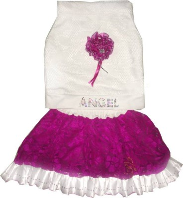 Kraft10 Girls Festive & Party Top and Skirt Set(Purple Pack of 1)