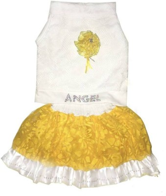 Kraft10 Girls Festive & Party Top and Skirt Set(Yellow Pack of 1)