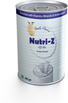 Nutri-Z Nutri-Z Protein Powder with DHA Whey Protein(.200 g, Vanilla)  available at flipkart for Rs.255