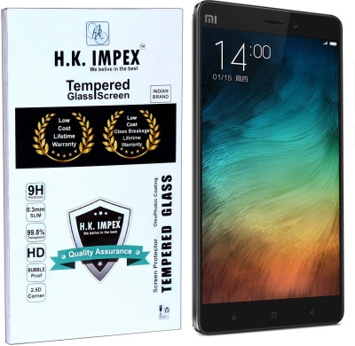 H.K.Impex Tempered Glass Guard for MI NOTE ,xiomi mi note tempered glass in mobile screen guard
