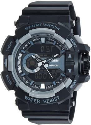 Skmei Analog-Digital Multi-Colour Dial Unisex Watch - 1117BBGREY Watch  - For Boys