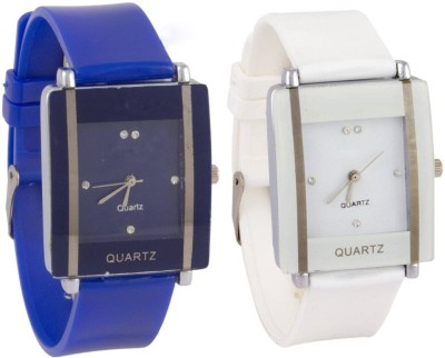 SPINOZA Glory Blue and White square shape simple and professional women Analog Watch   For Girls SPINOZA Wrist Watches