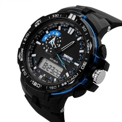 Skmei 1801-BLUE  Analog-Digital Watch For Boys
