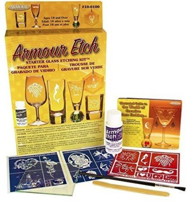 Armour Products Etch Glass Etching Starter Kit