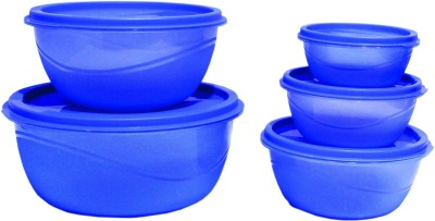 PRINCEWARE 5455 5   5921 ml Plastic Fridge Container Pack of 5, Blue PRINCEWARE Kitchen Containers