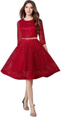 Apnisha Women Maxi Maroon Dress  available at flipkart for Rs.479