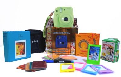 Fujifilm Mini 9 Lime Green Festive Pack Instant Camera(Green) 1