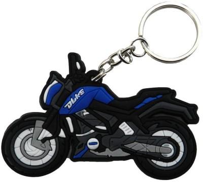 GCT KTM Duke Logo Blue Black Synthetic Rubber Bike Design-B Key Chain(Blue)  available at flipkart for Rs.161
