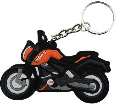 GCT KTM Duke Logo Orange Black Synthetic Rubber Bike Design-B Key Chain(Orange)  available at flipkart for Rs.161