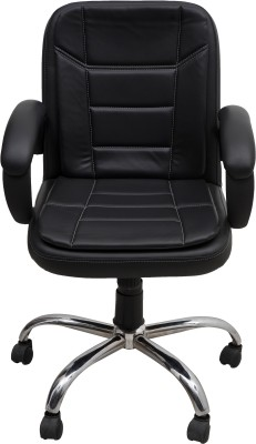 DZYN Furnitures Leatherette Office Executive Chair(Black)