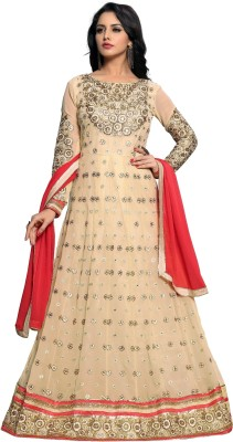 1f192f63a3 73% OFF on likers fashion Georgette Embroidered Semi-stitched Salwar Suit  Dupatta Material on Flipkart | PaisaWapas.com