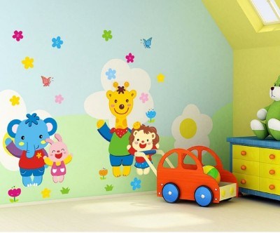 Oren Empower Colorful Cartoon Characters for Kids bedroom(90 cm X cm 60, Multicolor)  available at flipkart for Rs.349