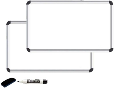 Kohinoor Non Magnetic Melamine Whiteboards and Duster Combos(Set of 1, White)