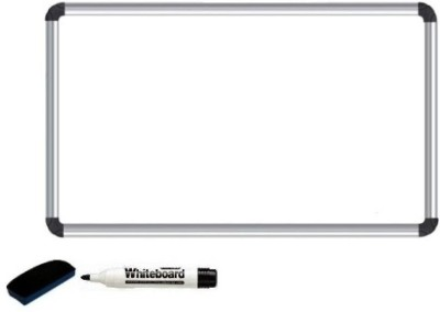 Masterfit Non Magnetic Melamine 61 x 45 cms Whiteboards and Duster Combos(Set of 1, White)