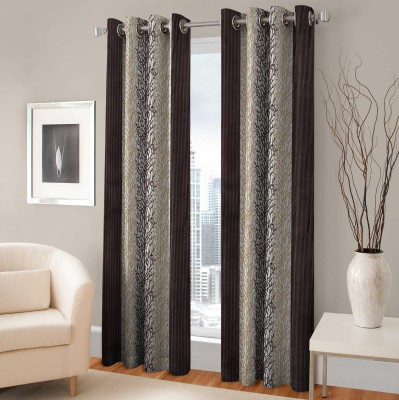 Fabaron Polyester Window Curtain 153 cm (5 ft) Single Curtain(Printed Brown)  available at flipkart for Rs.179