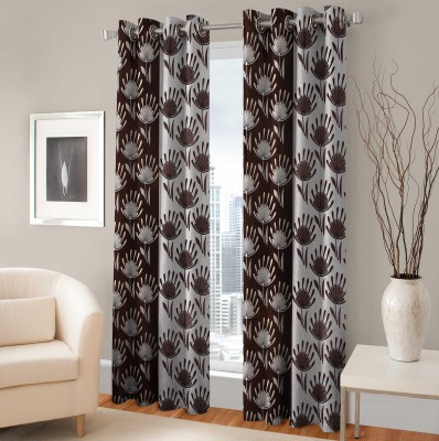 Fabaron Polyester Window Curtain 153 cm (4.9ft) Single Curtain(Printed Brown)  available at flipkart for Rs.199