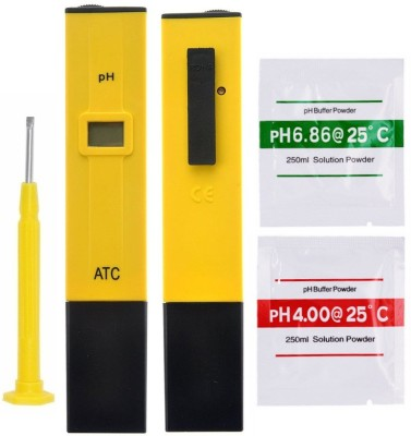 BalRama PH Meter with Care Box 0.0-14.0 High Accuracy Digital Ph Meter with ATC Hydroponic Water Quality Testing Equipment Portable Pocket Handheld Pen Type PH Meter to Measure Liquid, Purity, Acidity, Alkalinity Thermometer(Red, Yellow)
