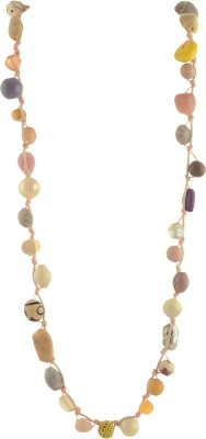 Ornamenta Fashion Hand made Beaded Strand Necklace Bohowith Glass Beads Alloy Necklace  available at flipkart for Rs.199