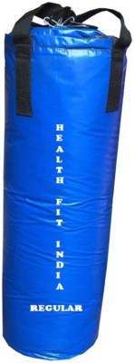 HEALTH FIT INDIA Regular 4.0 Feet Long, Synthetic Leather Material, Blue Color, Unfilled with Hanging Straps Hanging Bag(4.0, 48 kg)