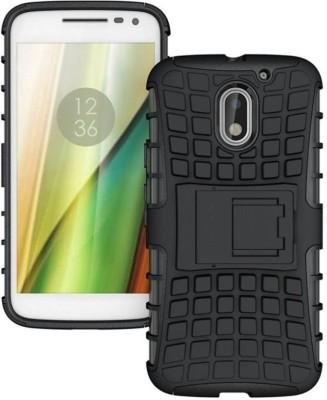 S-Gripline Back Cover for Motorola Moto E3 Power(Black, Plastic)