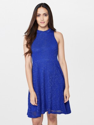 AND Women Skater Blue Dress
