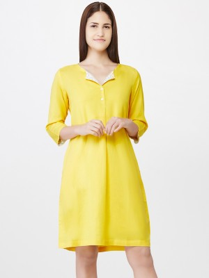 Pinwheel Women Shift Yellow Dress