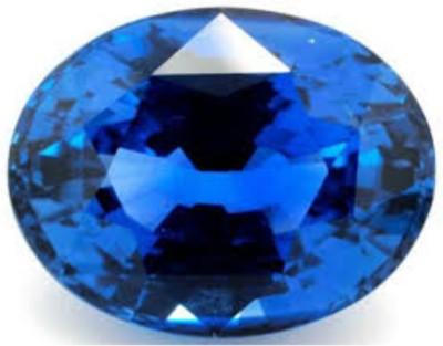 AJ Blue sapphire Stone Original Certified Best Quality Neelam Gemstone 6.25 Ratti Sapphire Stone at flipkart