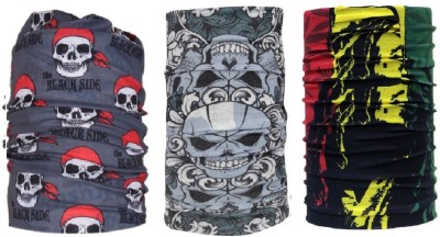 Atabz Men & Women Solid Bandana(Pack of 3)