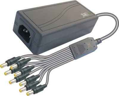 MX Power supply Input 220 AC to Output 12 Volts DC   3 Amperes for 8 CCTV Cameras Worldwide Adaptor Black MX Laptop Accessories