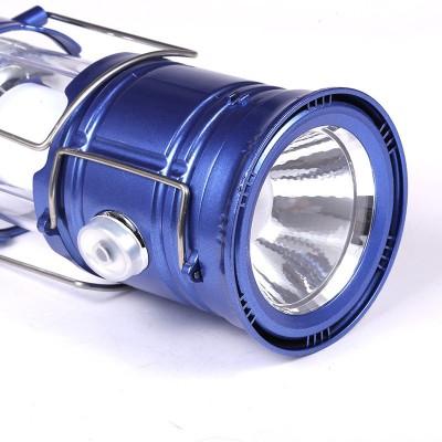 Wonder World® Rechargeable Solar Charging Lights USB Power Bank Waterproof Torch Lamp Camping LED flashlight torch Multifunction lantern(Blue)