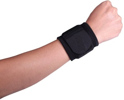 orthowala Wristband ideal for GYM and sports activies Wrist Support(Black)