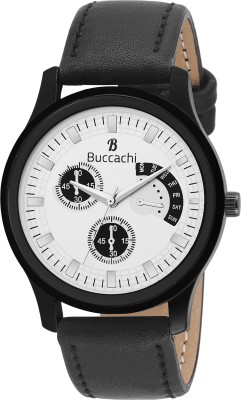 Buccachi B-G5008-WT-BK  Analog Watch For Men