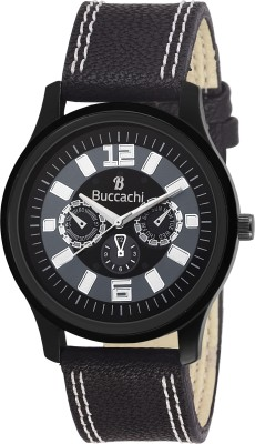 Buccachi B-G5007-BK-BK  Analog Watch For Men