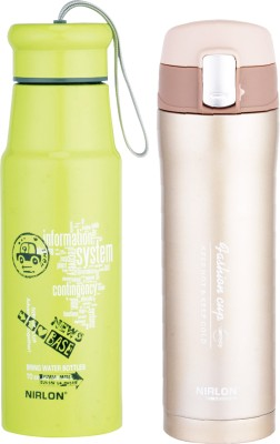 NIRLON Stainless Steel Water Bottles 0.95 L Flask(Pack of 2, Multicolor)  available at flipkart for Rs.1145