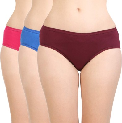 BodyCare Women Hipster Multicolor Panty(Pack of 3)