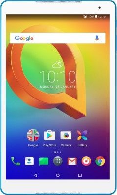 View Alcatel A3 10 16 GB 10.1 inch with Wi-Fi+4G Tablet(White, Blue)  Price Online
