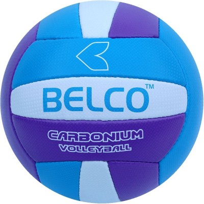 BELCO Tycon-1 carbonium(BLUE PURPLE) Volleyball - Size: 4(Pack of 1, Blue, Purple)