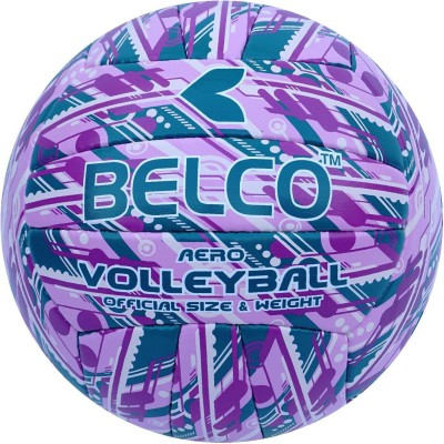 BELCO AERO-3(PURPLE GREEN) Volleyball - Size: 4(Pack of 1, Purple, Green)