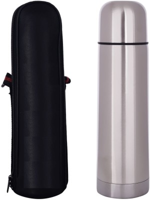 VibeX ™ Double Walled Vacuum Insulated Travel Coffee Mug, Stainless Steel Flask, Sports Water Bottle 500 ml Flask(Pack of 1, Silver)  available at flipkart for Rs.699