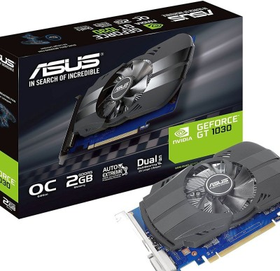 Asus NVIDIA PH-GT1030-O2G 2 GB GDDR5 Graphics Card(Black)