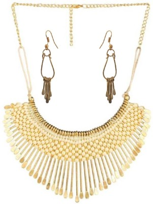 aabhu Alloy Jewel Set(White)