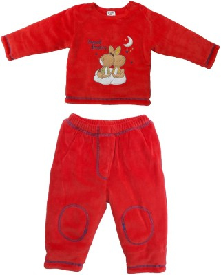 Cradle Togs Baby Boys & Baby Girls Casual Top Trouser(Red)