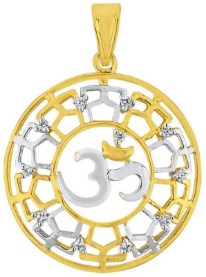 JPearls Om 18kt Diamond Yellow Gold Pendant